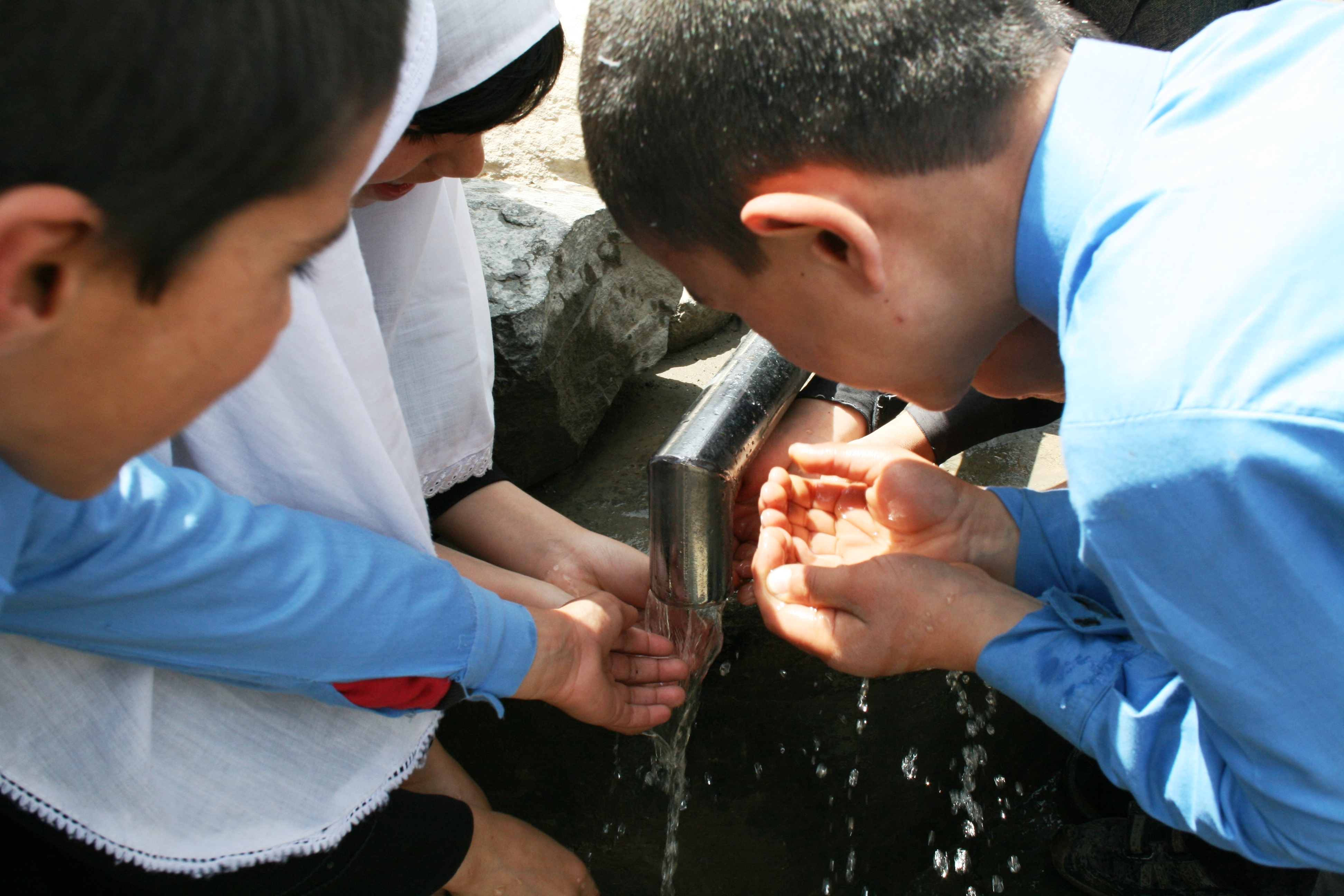There are little hand-washing facilities in latrines at schools in Afghanistan