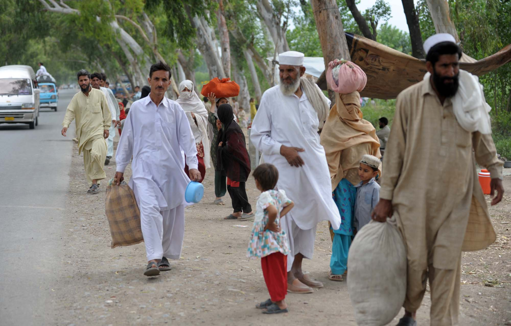Displaced people have begun to move further away from the conflict zone in South Waziristan