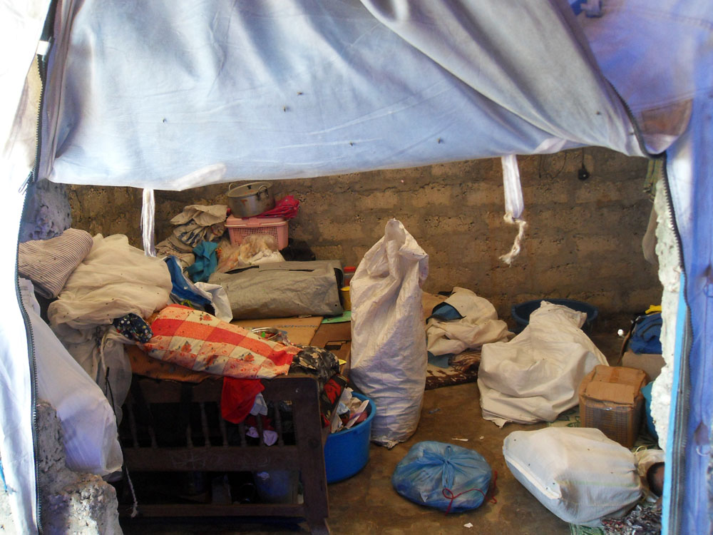 Inside the makeshift home of a returnee family in Jaffna district in Sri Lanka's north
