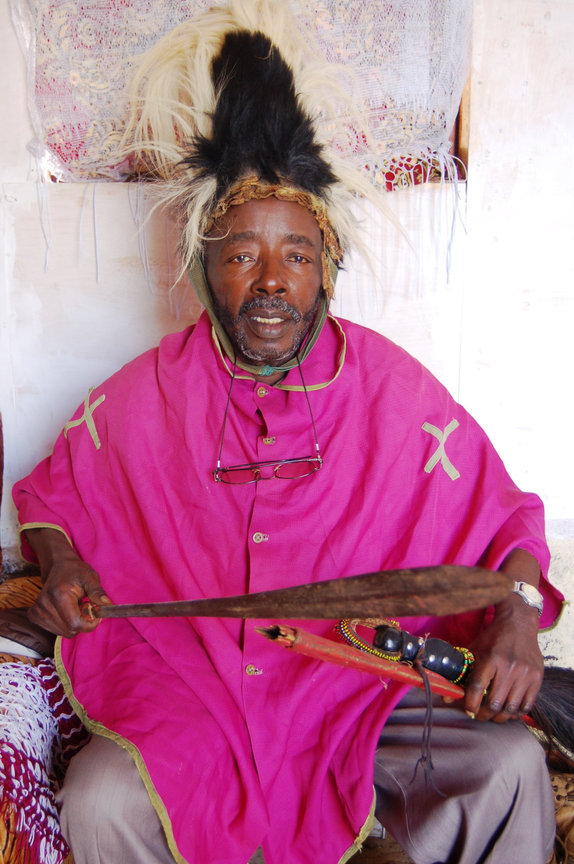 Alfonze Maingi, a traditional circumciser from Nyambene District, Eastern Province