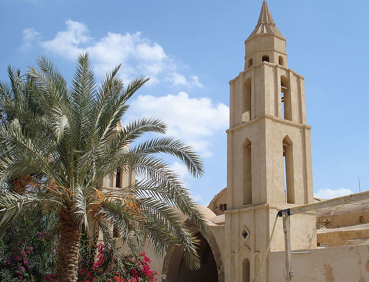 A Coptic Christian Church in St Bishoy Monastery between Cairo and Alexandria
