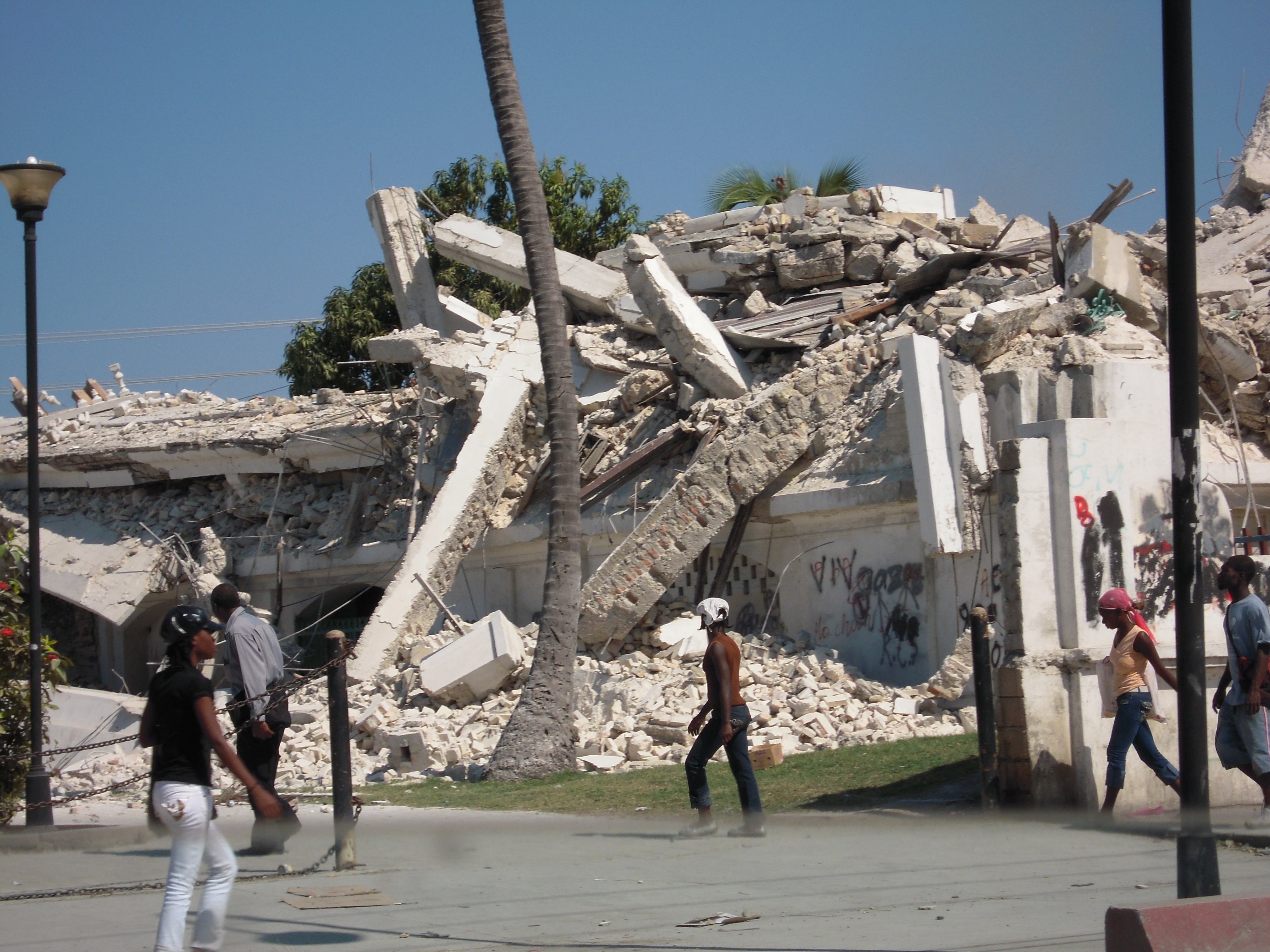 Earthquake damage in Port au Prince, Haiti