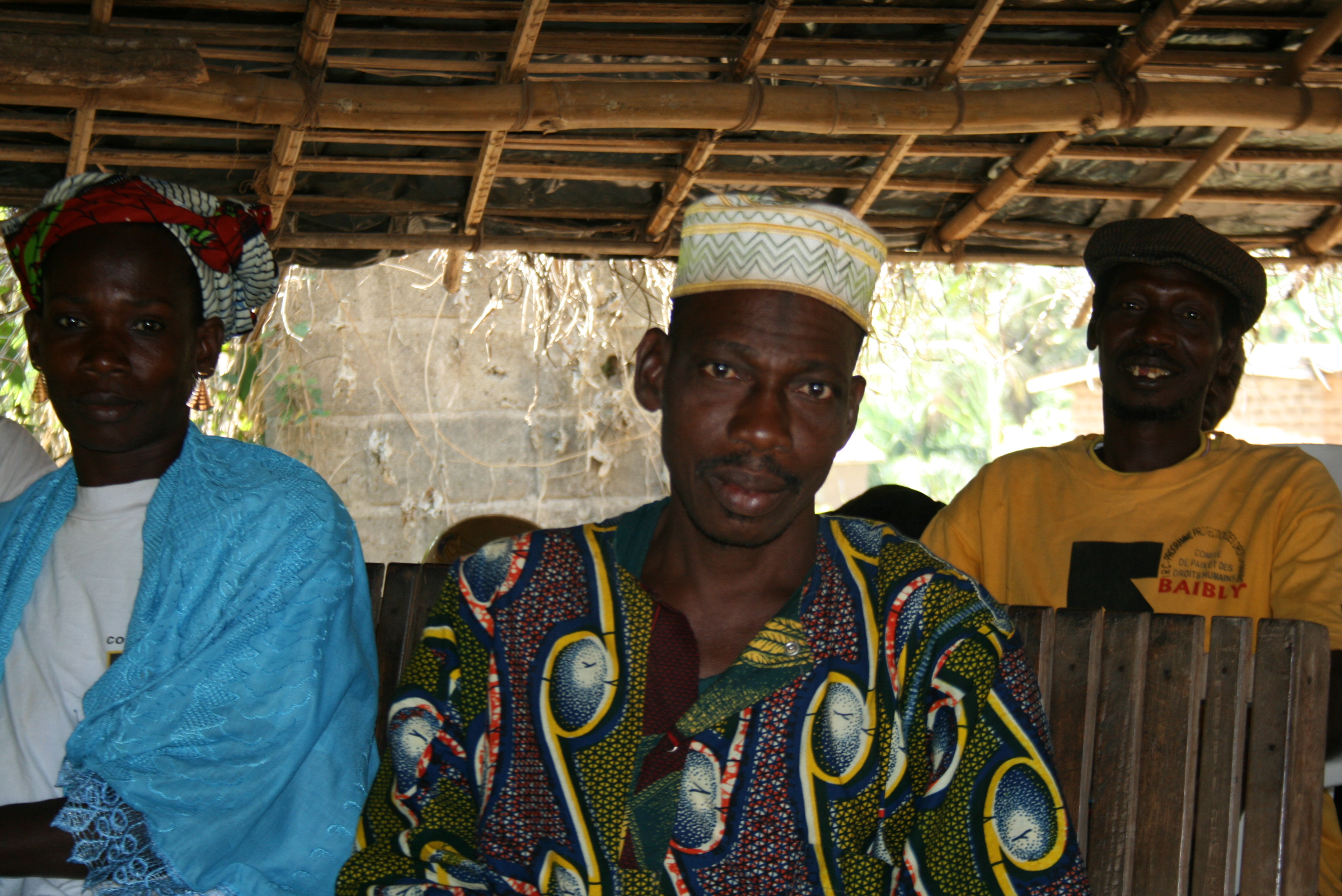 Members of peace committee in Baibly which intervenes in land disputes