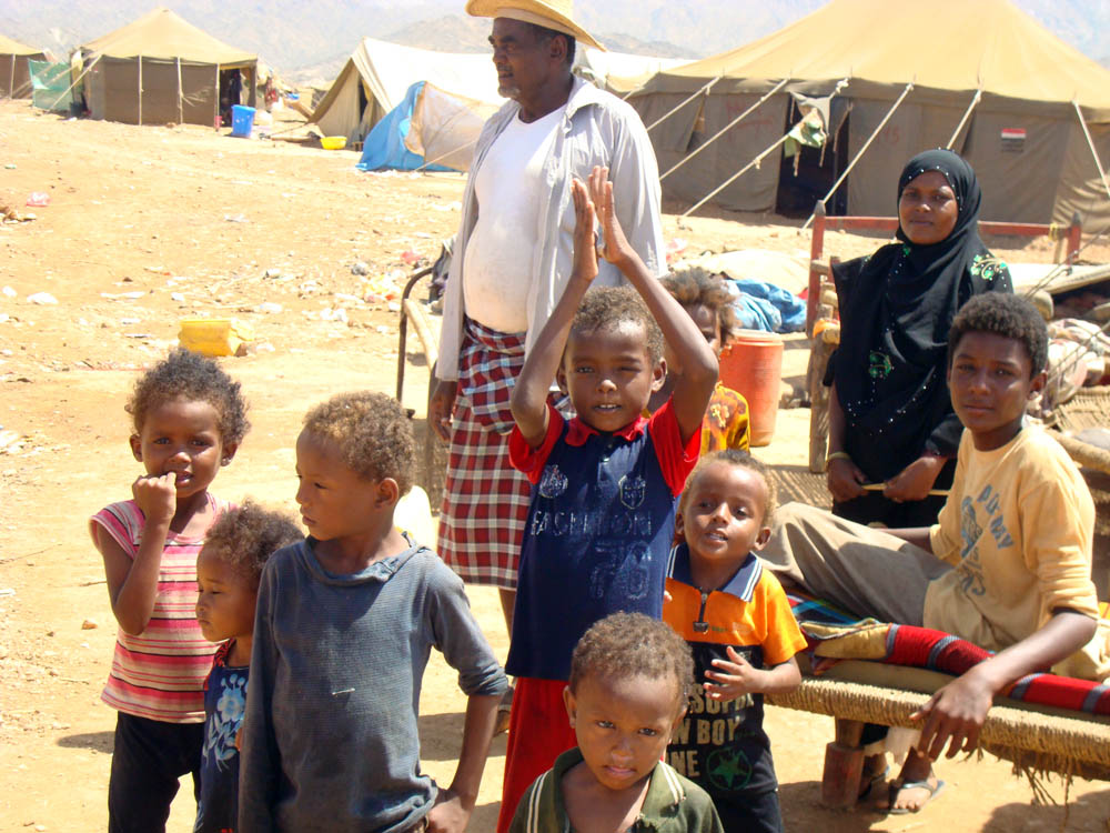 New IDPs arriving at al-Mazraq camp in Hajjah Governorate lack adequate shelter