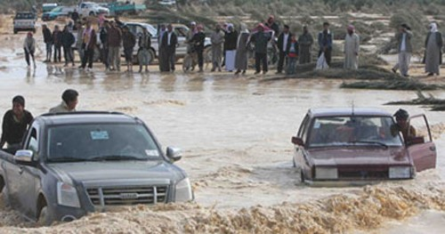 Flash floods in different parts of Egypt caused extensive damage to homes