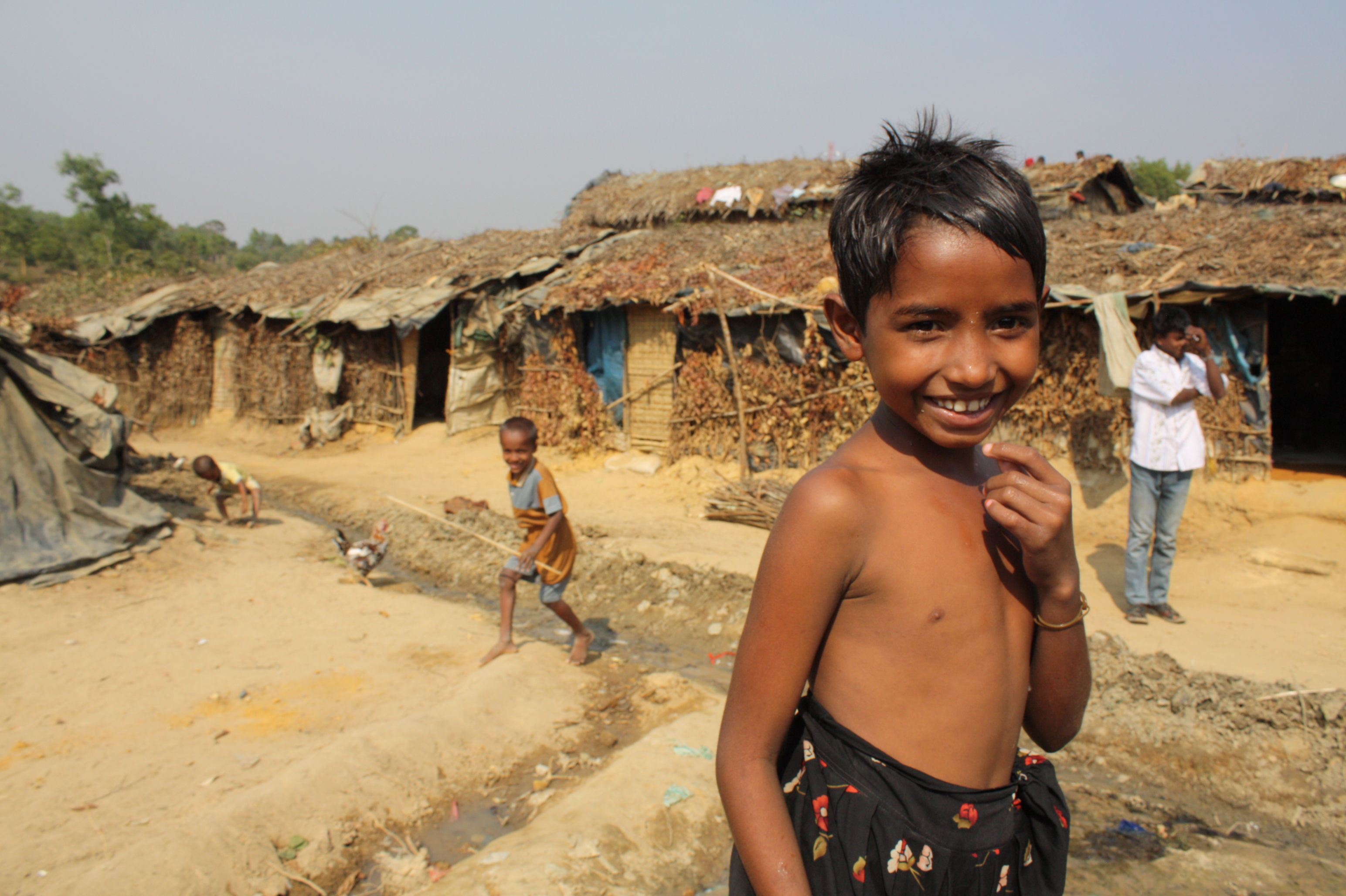 A young boy at the Kutupalong makeshift refugee site in Cox's Bazar, southern Bangladesh. There are currently more undocumented refugees at the site than the total number of UNHCR documented refugees combined