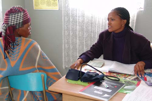 HIV testing at a Lesotho clinic