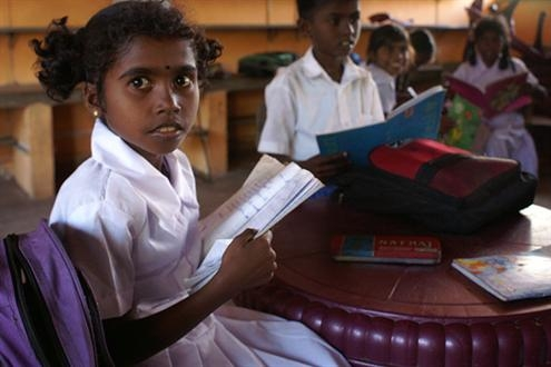 Education is a major challenge in conflicted-affected northern Sri Lanka, where thousands of children are now returning to school