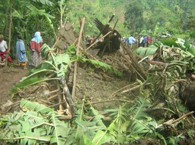 The devastation caused by the landslides washed away houses and crops