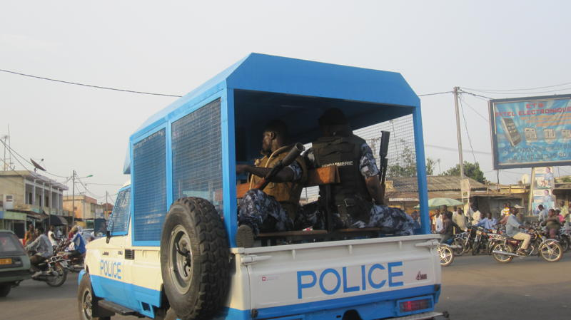 Togo's armed forces dispersed demonstrations with tear gas on 7 March