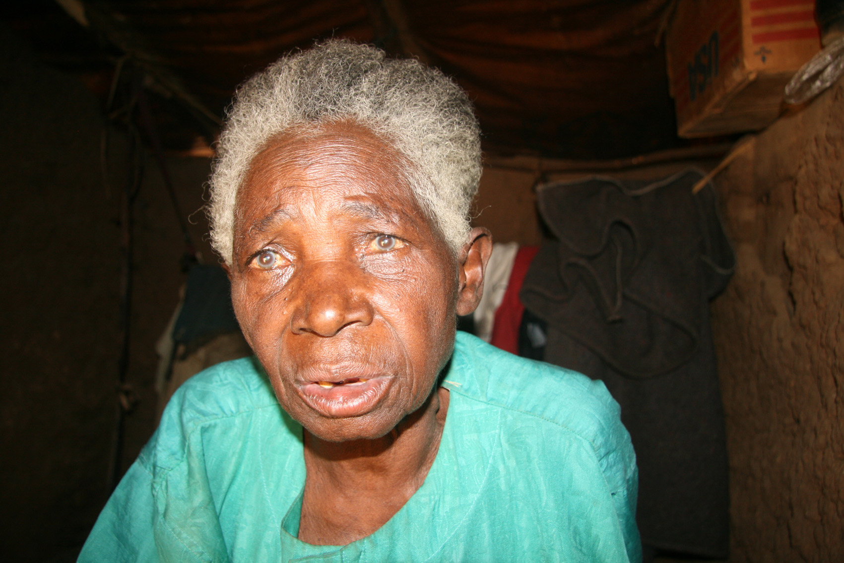 Pherebonia Nyiramatabaro, 85, a Rwandan refugee living in the Juru A camp village in Nakivale refugee settlement in southwestern Uganda