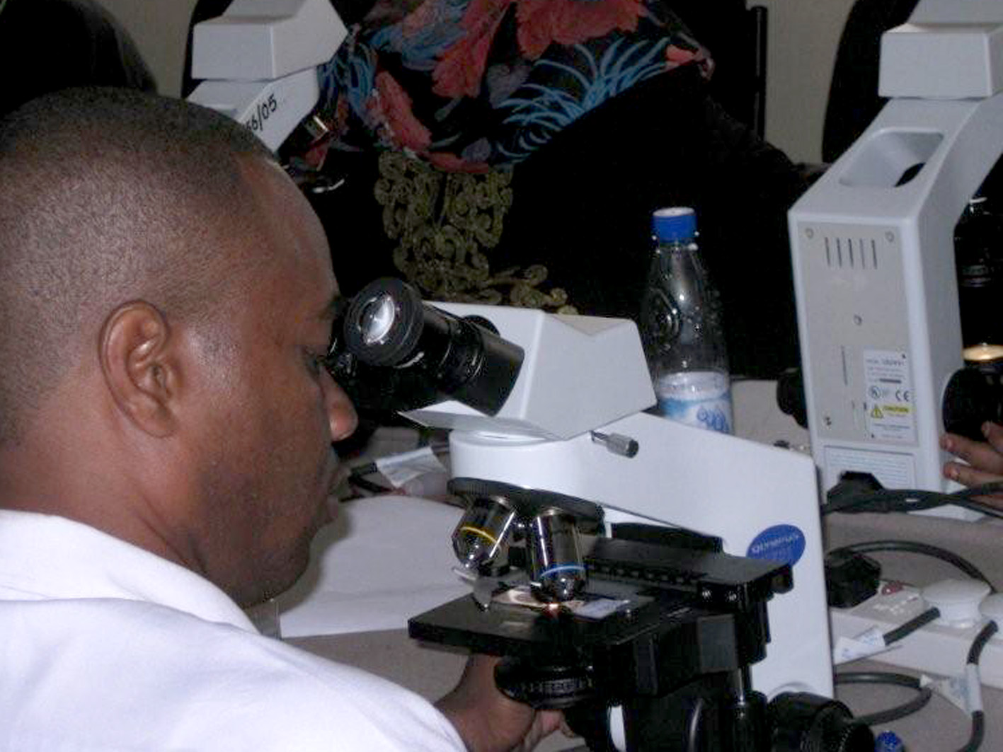 Laboratory technicians are often trained by the Zanzibar Malaria Control Programme