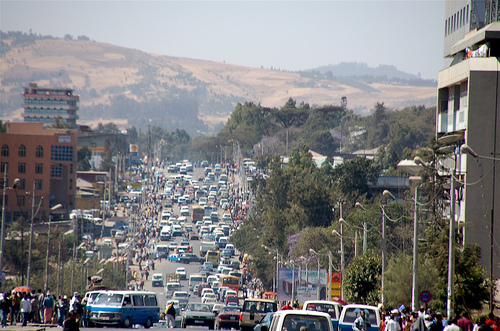 A street in Addis Ababa