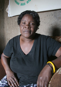 Wilbroda Aoko Wandera, 48, a widow living in Kibera, Nairobi. She has 10 dependants