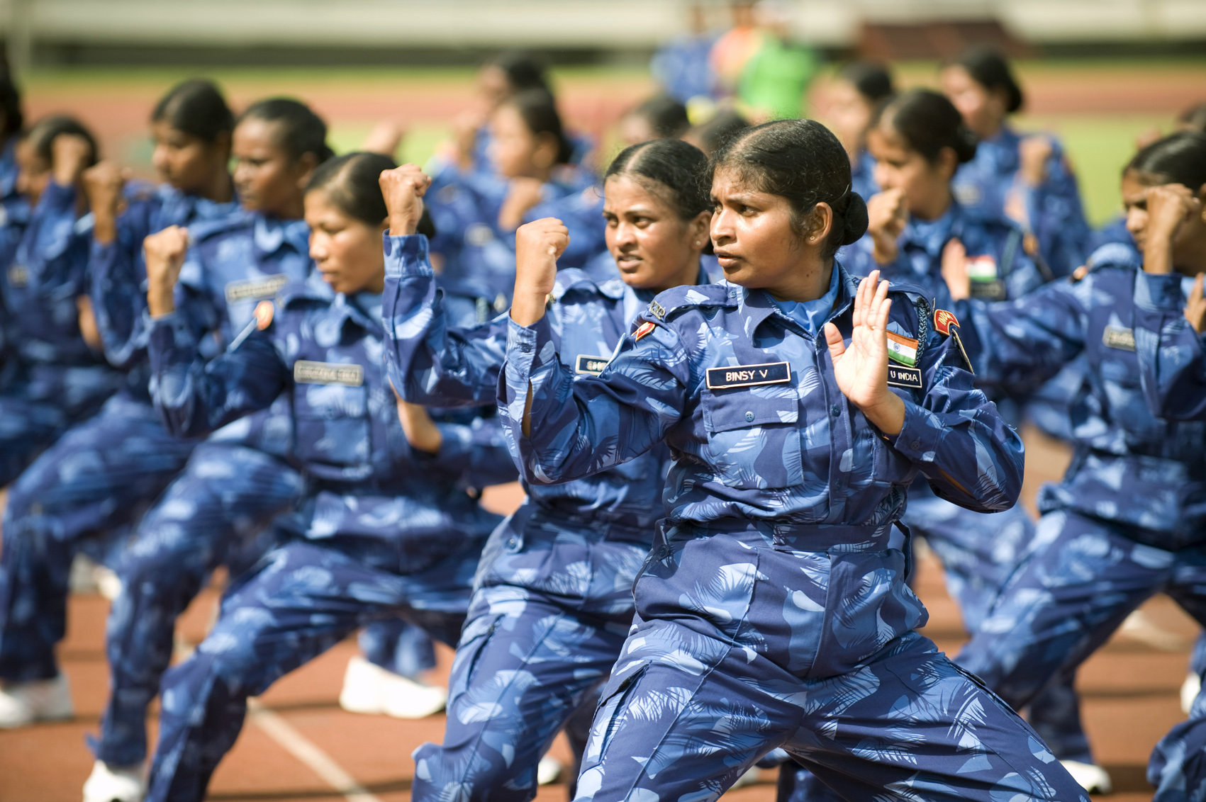 Members of an all-female Indian police unit of the UN mission in Liberia