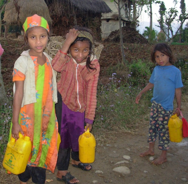 Despite the arrival of monsoon rains, in many part of Nepal children are walking more than five hours to fetch water from rivers