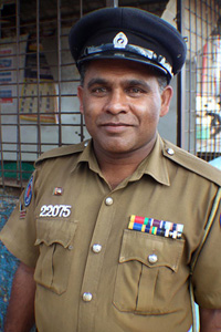 Less than 15 percent of the police force in Northern Province speak Tamil, the main language in the war-affected region