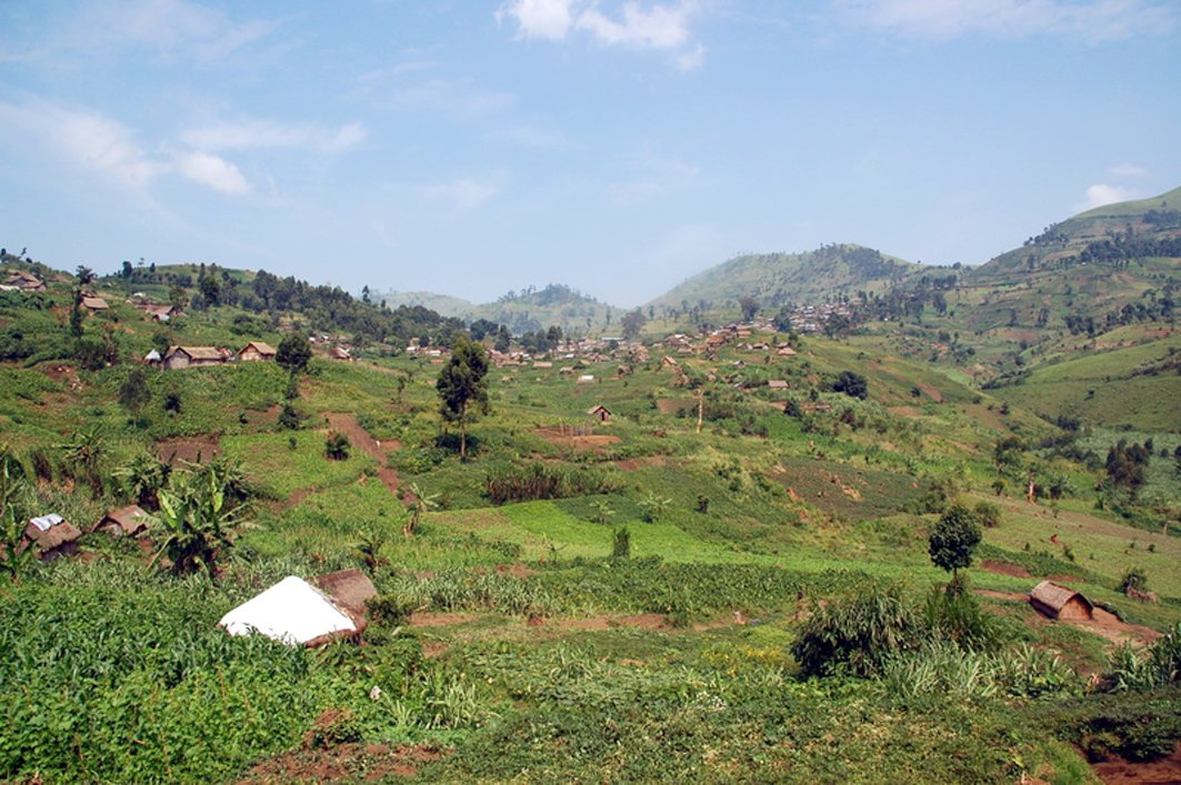 The fertile hills of Masisi district, in eastern DRC's North Kivu province