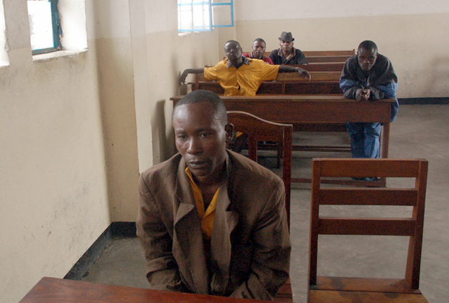 Ciril Manasse [convicted of rape] with Amungu and Bahati in the background All taken at Goma central prison