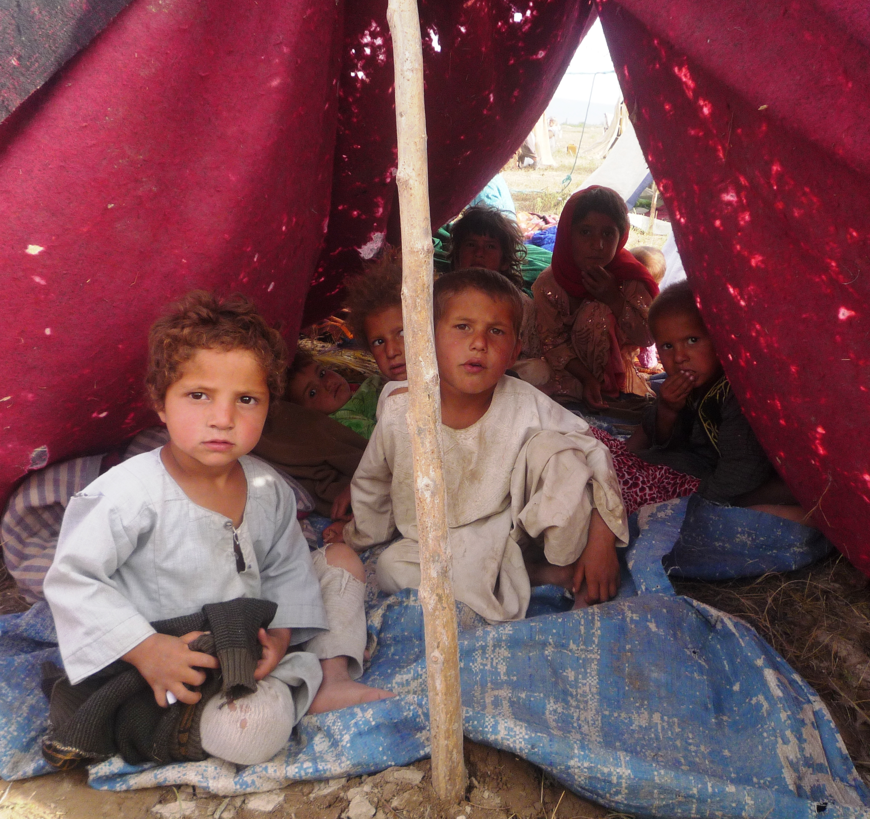 IDP children in Balkh Province, northern Afghanistan