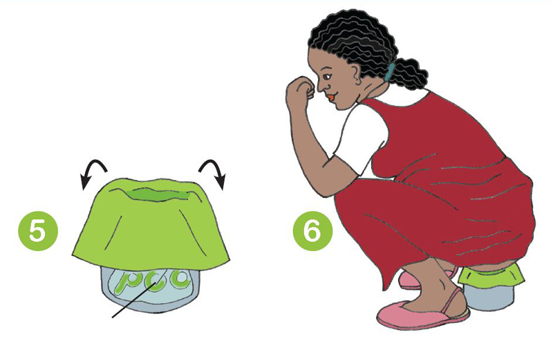 Excerpt from an Oxfam information sheet in a trial of the Peepoo composting toilet bag technology in Haiti (2010)