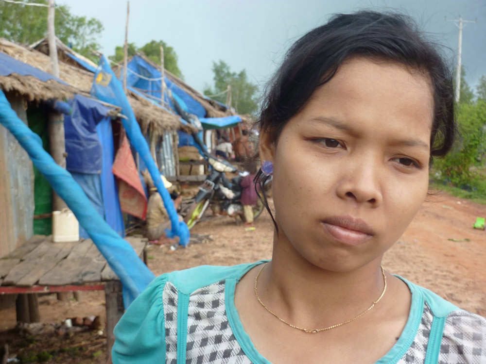 Cambodia's landless: a community in the coastal town of Sihanoukville has been forced to live in a ditch after their homes were burnt down by a land developer