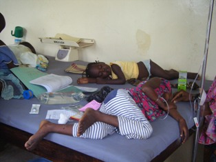 Cholera patients in Bauchi, September 2010