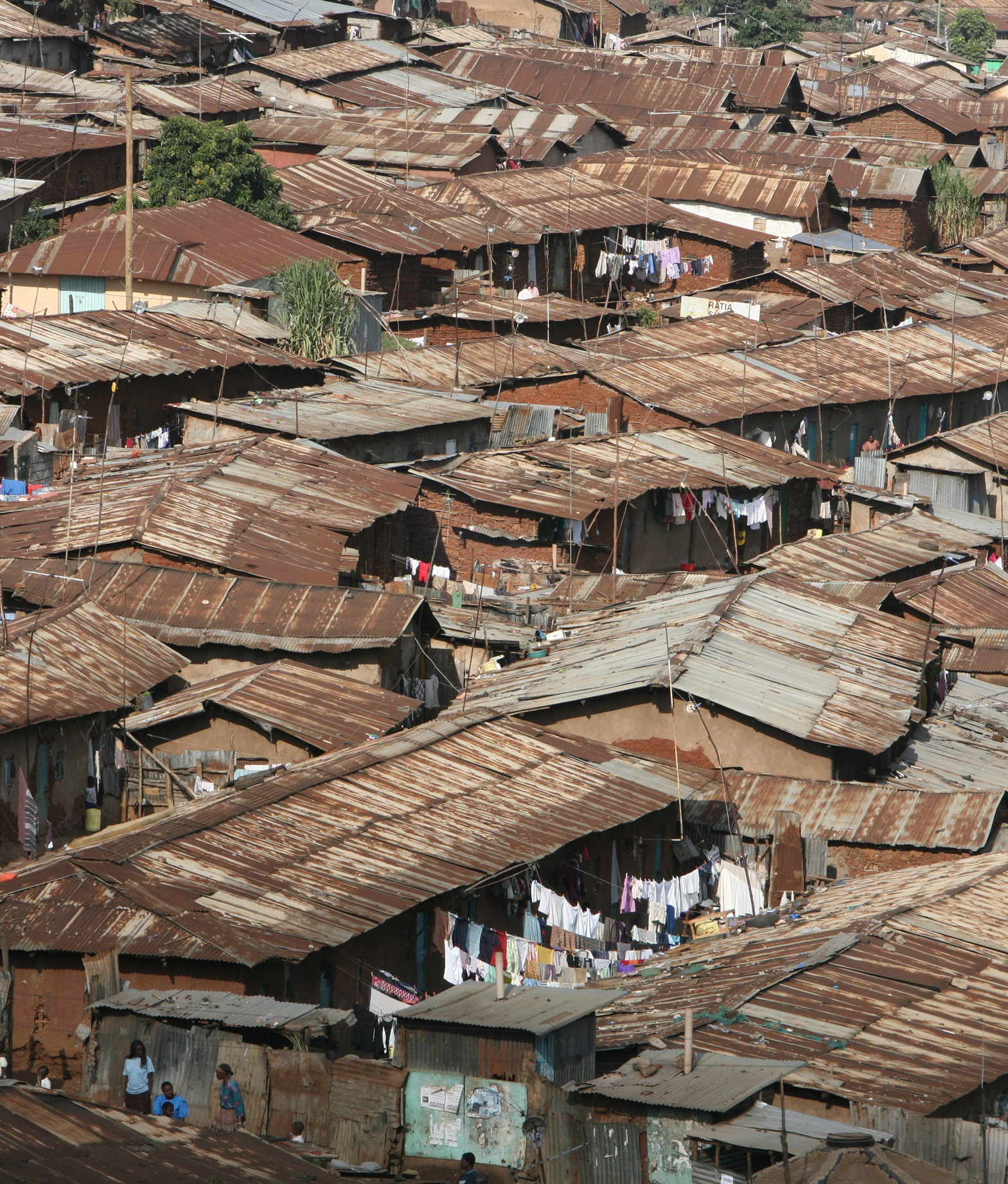 Roof tops in the Kibera slum, Nairobi. For Generic use