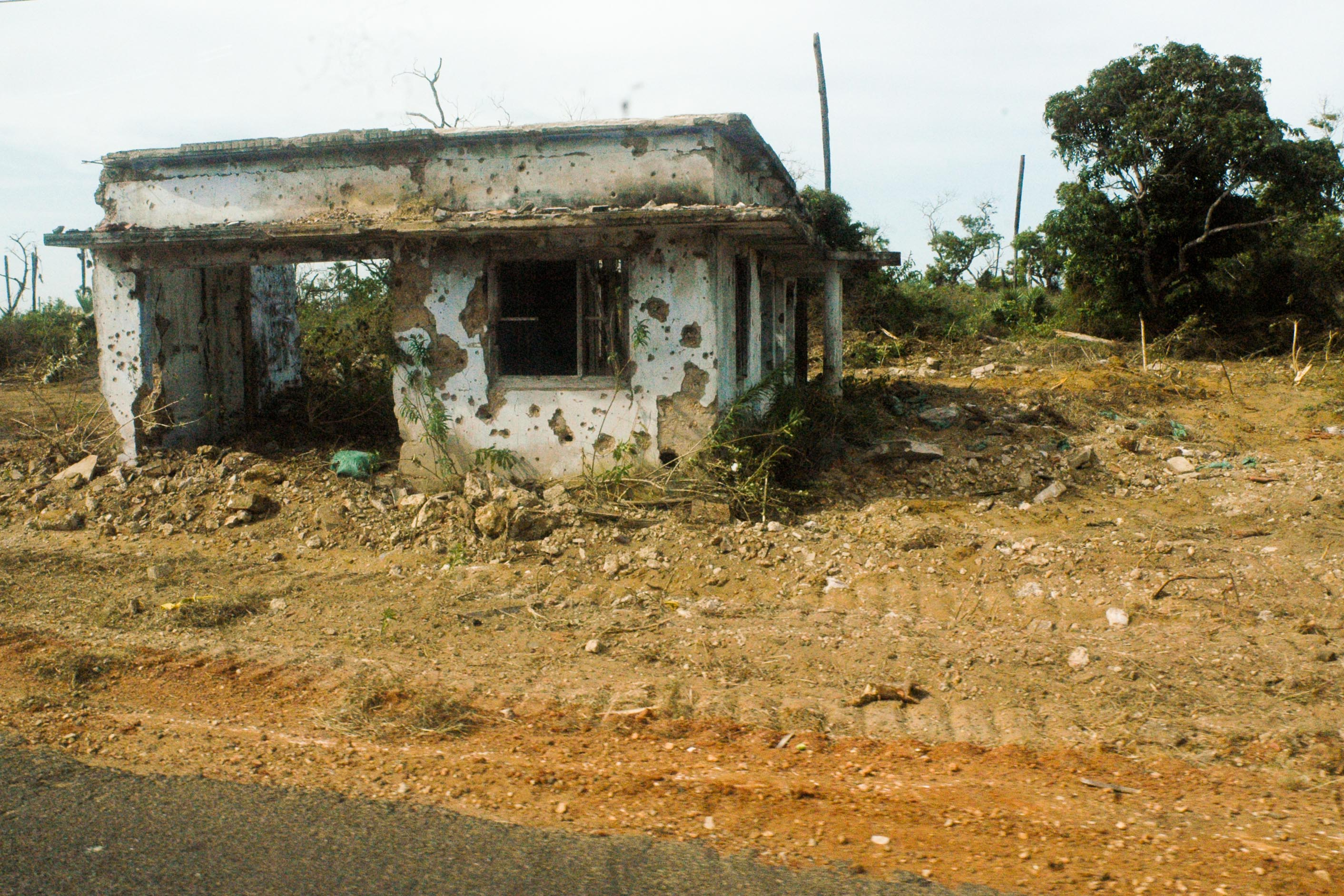 A war-damaged home in northern Sri Lanka. At least 160,000 houses need to be repaired or reconstructed in the Vanni