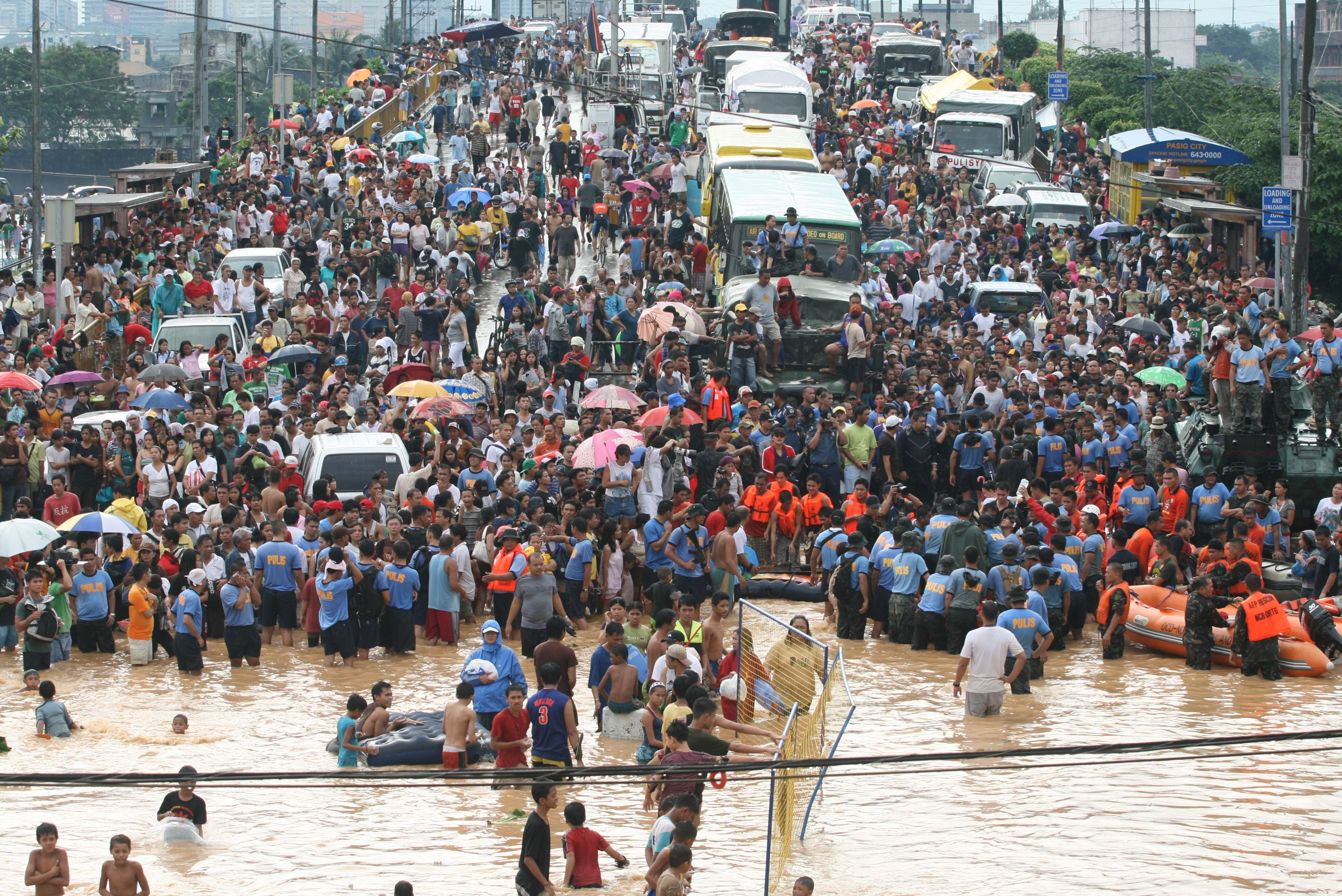 Hundreds of thousands of people were affected by Ketsana, which struck the the Philippines on 26 September 2009.  The storm inundated 80 percent of Manila on the island of Luzon, home to some 12 million people