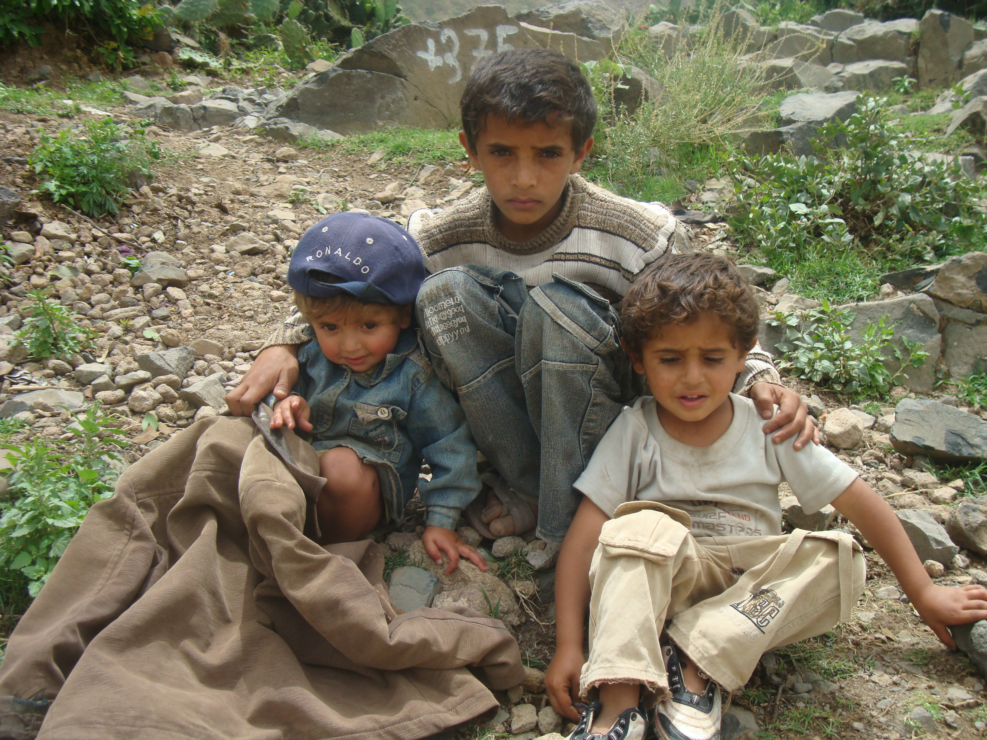 Displaced children in Habban area
