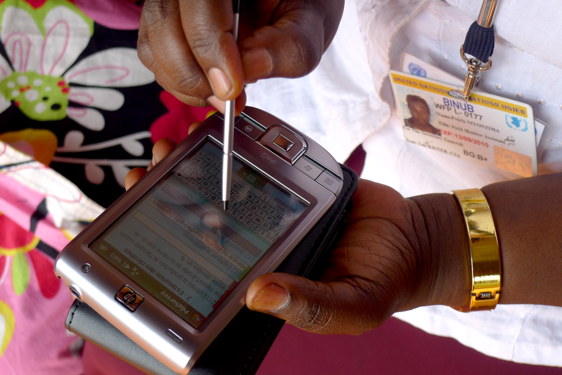The World Food Programme in Burundi is piloting the use of smart phones in food assessment data collection