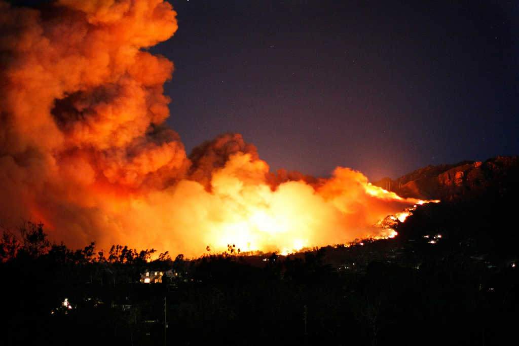 Wildfire in Santa Barbara, California, USA in 2008