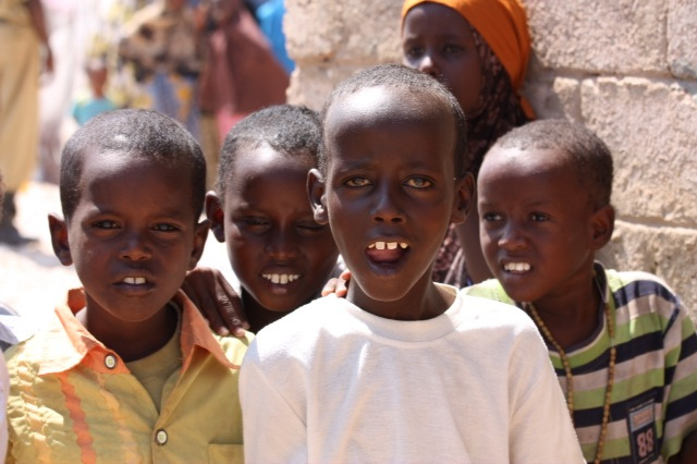 IDP children in Bossaso. For generic use