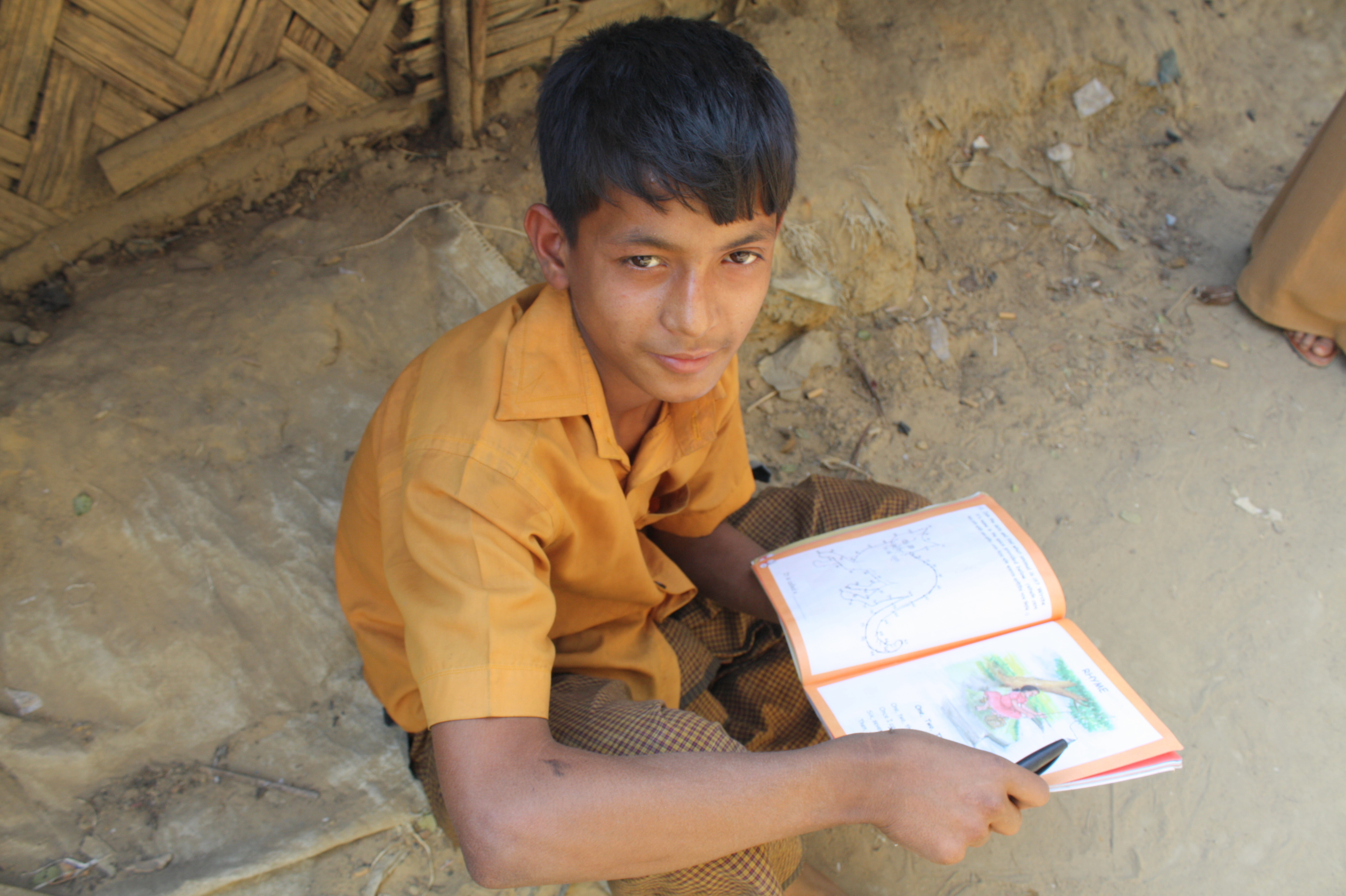 With no access to education after primary school at the Kutupalong camp, one of two official camps set up to house 28,000 documented Rohingya refugees, many young people study on their own or in groups