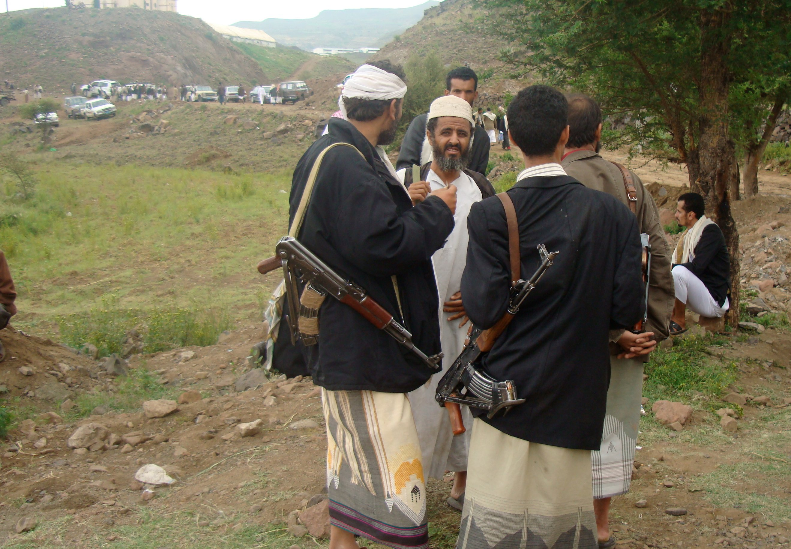 Gun bearing is commonplace in Yemen's tribal communities