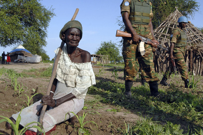 Zambian troops of the United Nations Mission in the Sudan (UNMIS) patrol the Abyei Area in the wake of the decision of the Permanent Court of Arbitration, ruling on the boundaries of the Abyei Area after the two parties to the Comprehensive Peace Agreemen