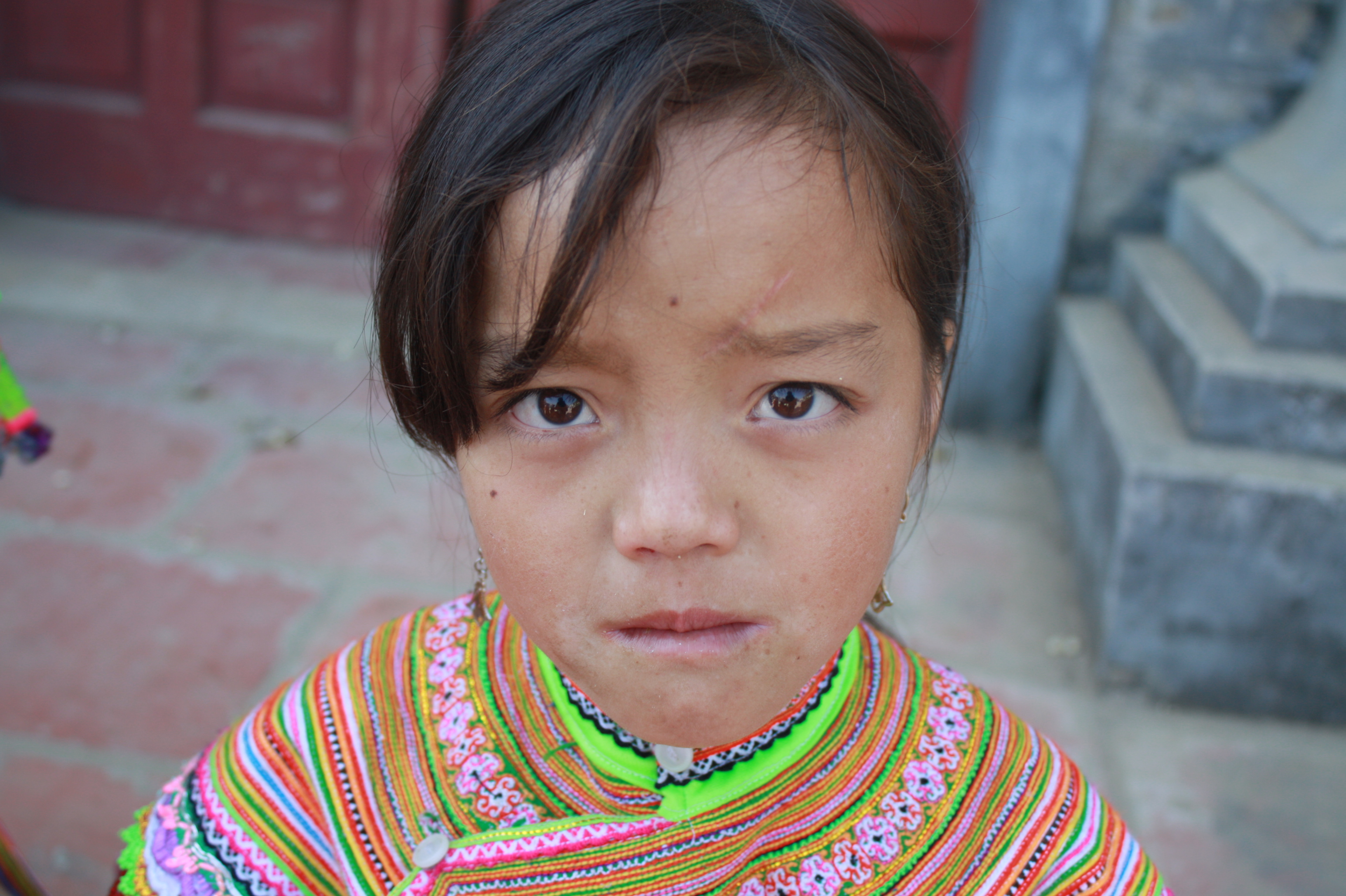 A young hill tribe girl in northern Vietnam