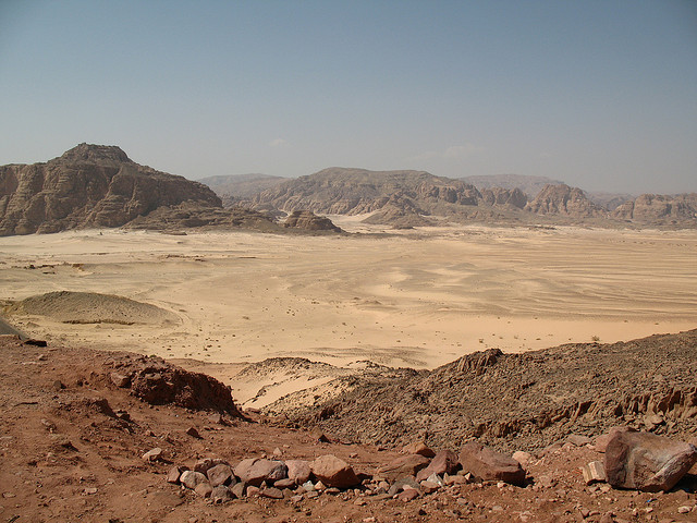 View of the Sinai Desert. For generic use