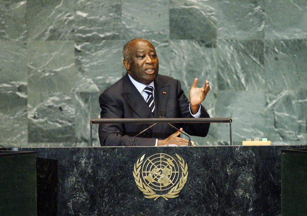 Laurent Gbagbo addresses the UN General Assembly in 2009