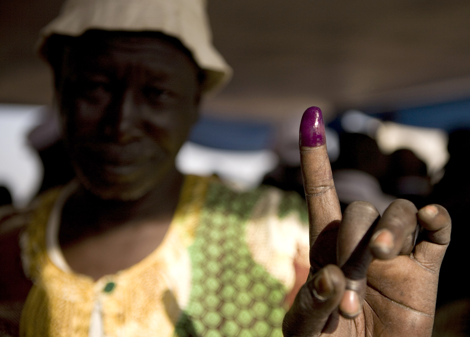 A man at a Juba polling station on voting day in the Southern Sudan referendum