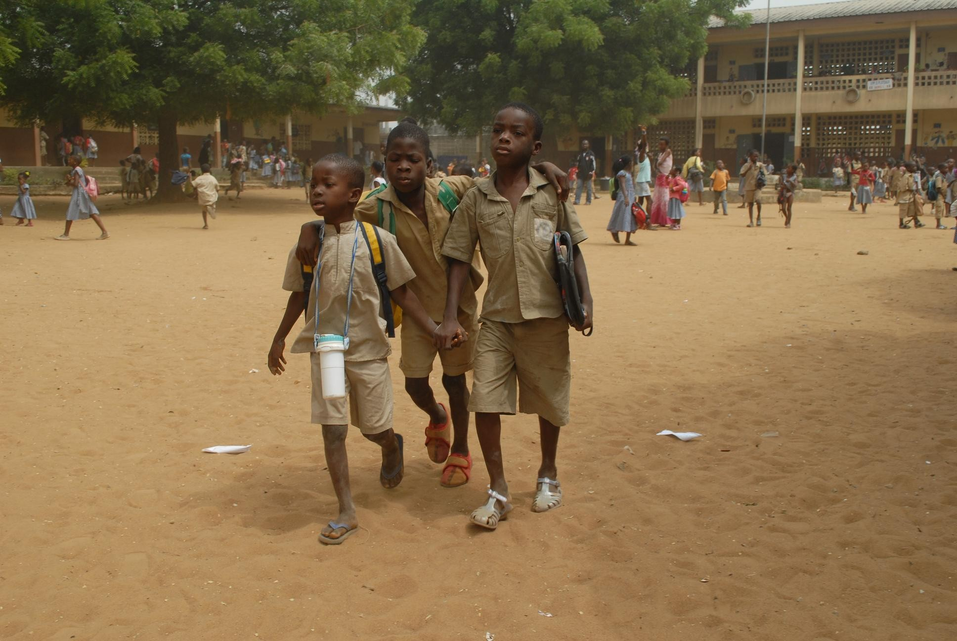 In some areas children show up to teacher-less classrooms. January 2011