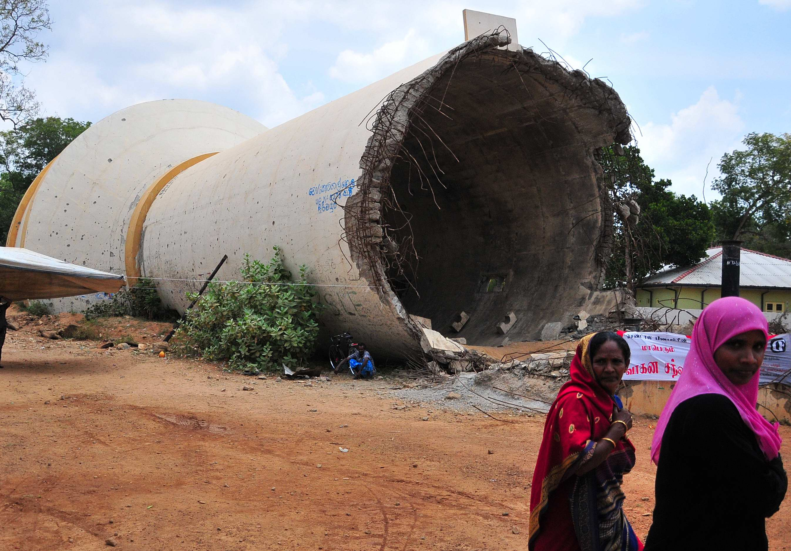 Damaged water infrastructure in the Vanni, Sri Lanka's northern former zone of conflict