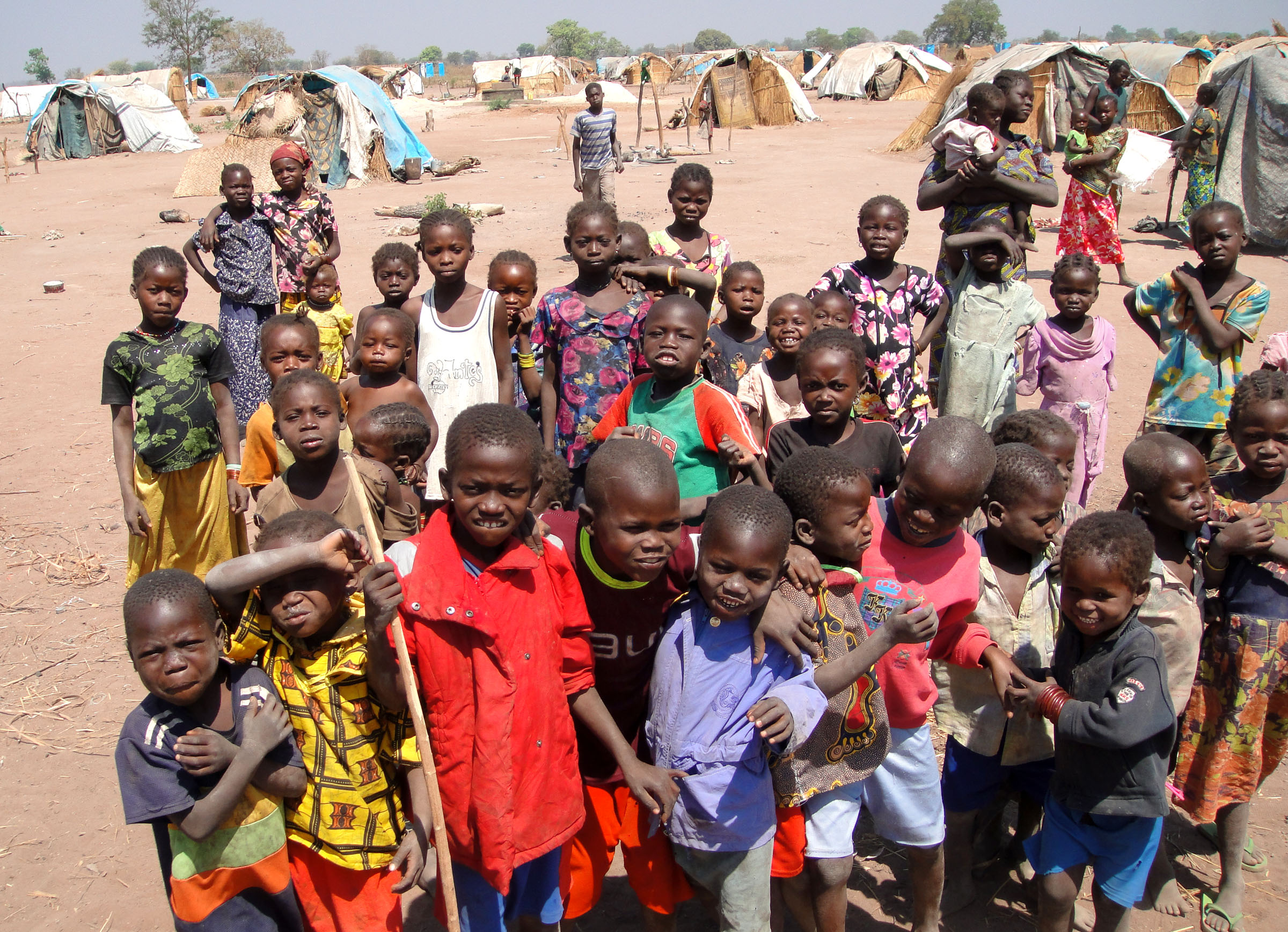 Children in an IDP camp in Kabo, Northern CAR