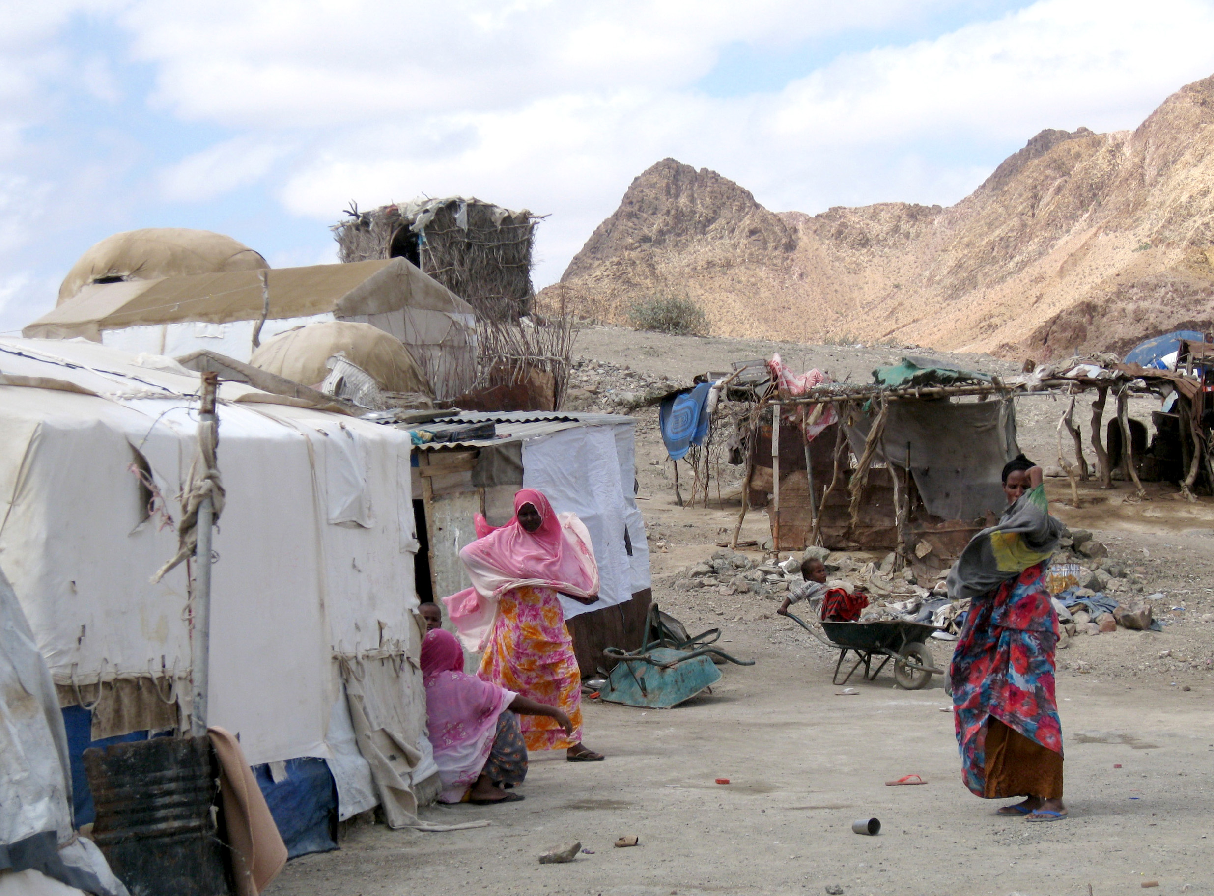 Ali Addeh refugee camp, 130km south of Djiboutiville, capital of Djibouti