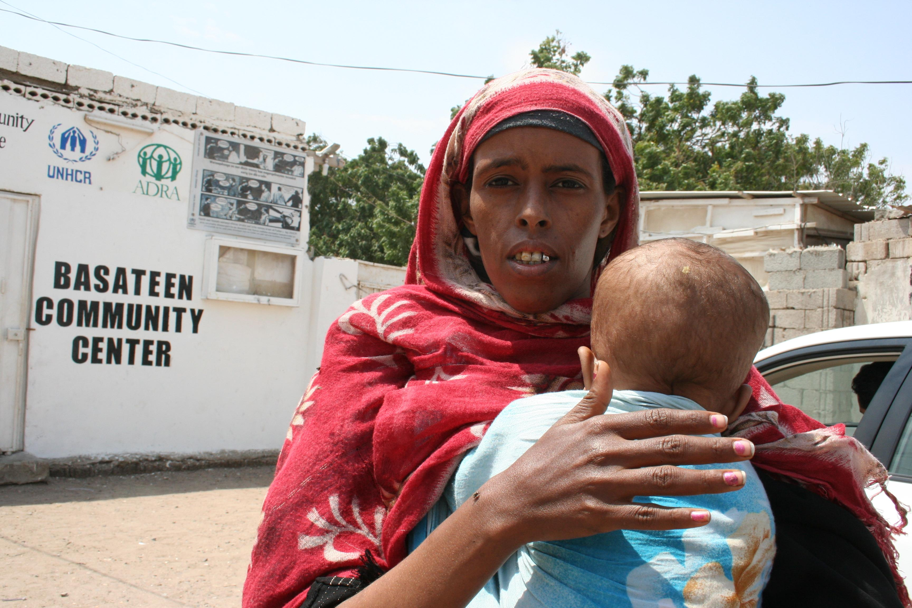 Somali women with baby in Basateen