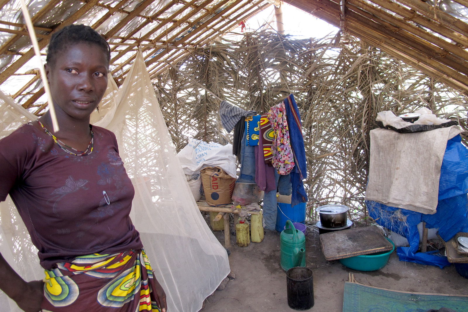 Displaced woman in Dungu, northern Democratic Republic of Congo, where attacks by Lord's Resistance Army rebels are on the increase