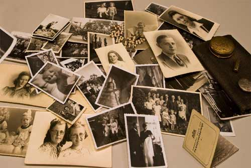 Photos left behind by some of the millions who did not survive the ravages of the Third Reich -- ICRC frequently uses photos to help reunite families