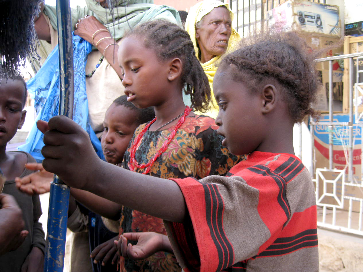 Street children begging in Jigjiga streets. Jigjiga is a city in eastern Ethiopia and the capital of the Somali Region