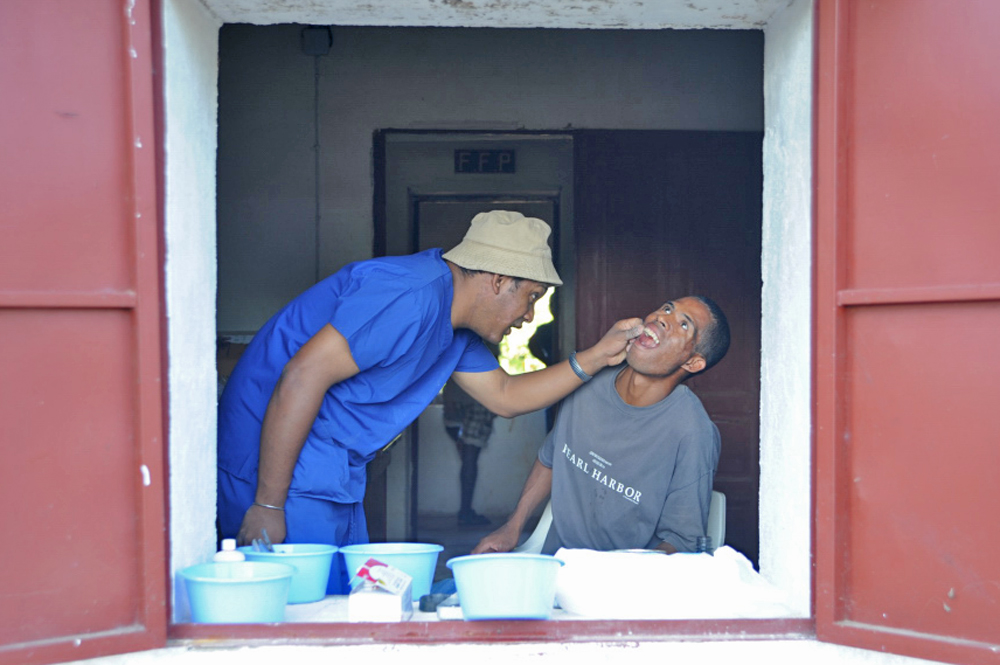 Patients receiving treatment in Ankavandra, about 230km west of the Madagascan capital Antananarivo